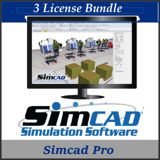 Picture of Simcad Pro (3 License Bundle) - Process Simulator