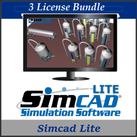 Picture of Simcad Pro Lite ( 3 License Bundle) - Process Simulation Software